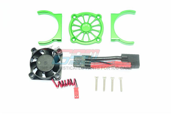 Traxxas E-Revo 2.0 VXL Brushless (86086-4) Aluminum Motor Heatsink With Cooling Fan - 1 Set Green