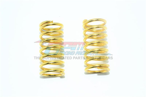 Spare Springs 2.6mm (Coil Length) For Original Shocks & GPM Optional Shocks Item#ER2085F/R For Traxxas E-Revo VXL 2.0 / E-Revo Brushless / Revo - 2Pc Set Gold