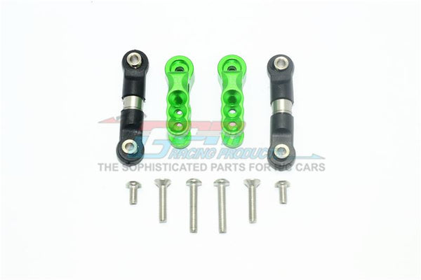 Traxxas E-Revo VXL 2.0 / E-Revo Brushless Aluminum 23T Servo Horn With Stainless Steel Adjustable Tie Rods - 10Pc Set Green