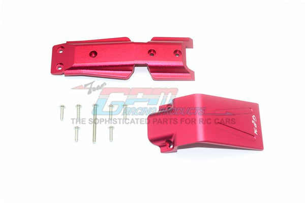 Traxxas E-Revo 2.0 VXL Brushless (86086-4) Aluminum Front Skid Plate - 2Pc Set Red