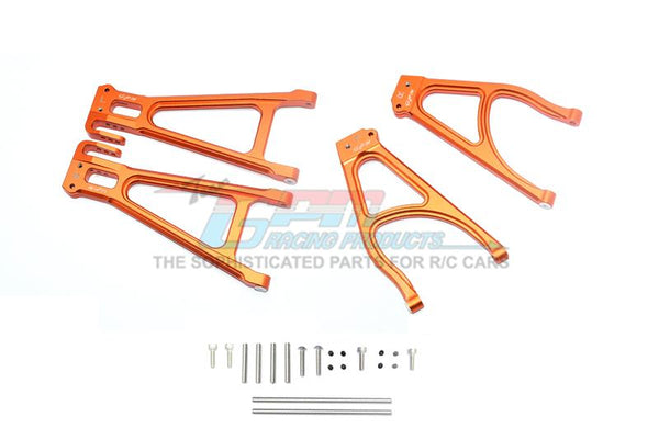 Traxxas E-Revo 2.0 VXL Brushless (86086-4) Aluminum Rear Suspension Arm Set (Upper+Lower) - 4Pc Set Orange