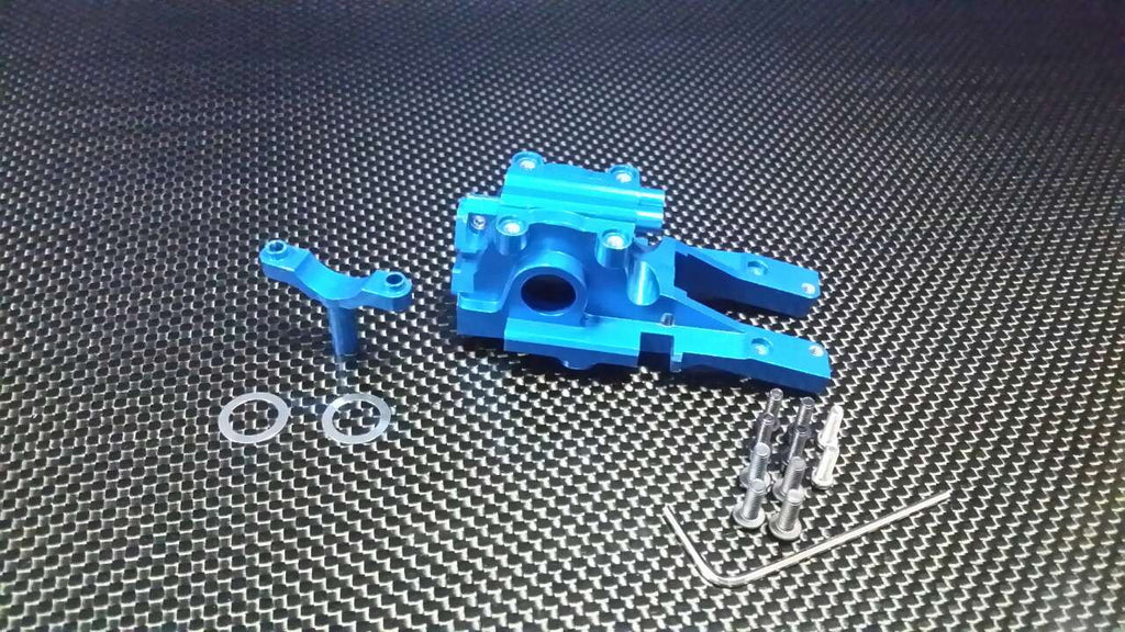 Traxxas 1/16 Mini E-Revo Aluminum Front Gear Box - 3 Pcs Set Blue