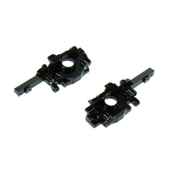 Traxxas 1/16 Mini E-Revo Aluminum Rear Gear Box - 2Pc Set Black