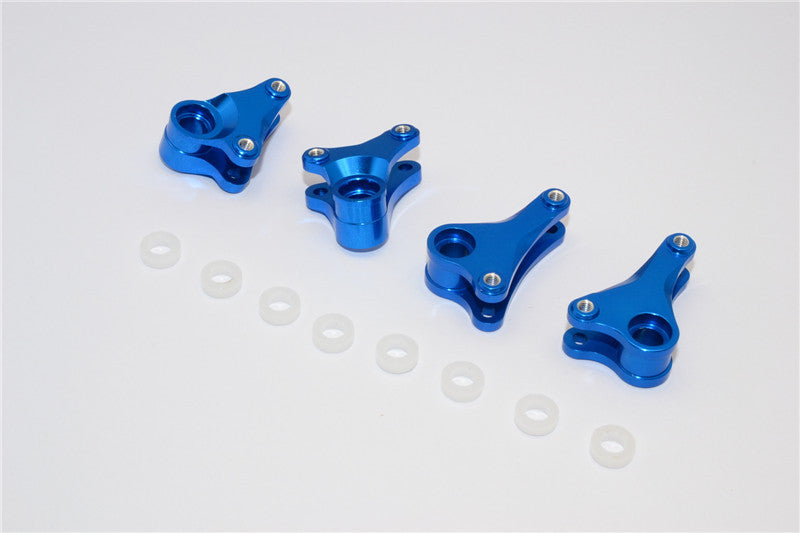 Traxxas 1/16 Mini E-Revo, Mini Slash Aluminum Front+Rear Rocker Arm - 4Pcs Set Blue