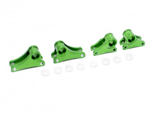 Traxxas 1/16 Mini E-Revo, Mini Slash Aluminum Front+Rear Rocker Arm - 4Pcs Set Green