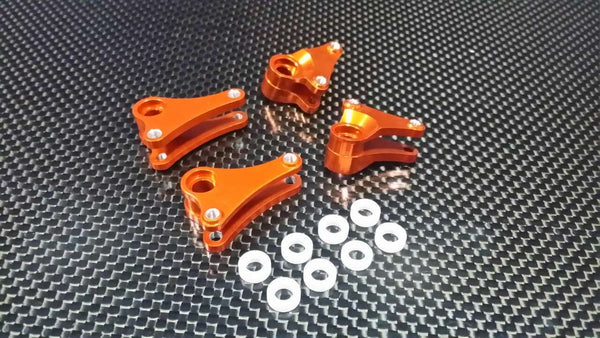 Traxxas 1/16 Mini E-Revo, Mini Slash Aluminum Front+Rear Rocker Arm - 4Pcs Set Orange