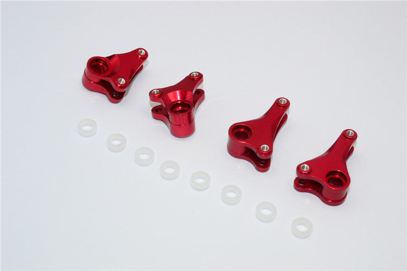 Traxxas 1/16 Mini E-Revo, Mini Slash Aluminum Front+Rear Rocker Arm - 4Pcs Set Red