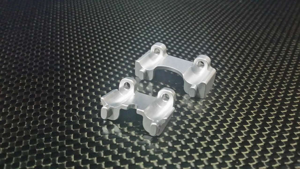 Traxxas 1/16 Mini E-Revo, Mini Slash, Mini Summit Aluminum Front+Rear Shock Mount - 2 Pcs Silver