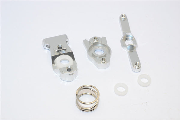 Traxxas 1/16 Mini E-Revo, Mini Slash, Mini Summit Aluminum Steering Assembly - 3 Pcs Set Silver