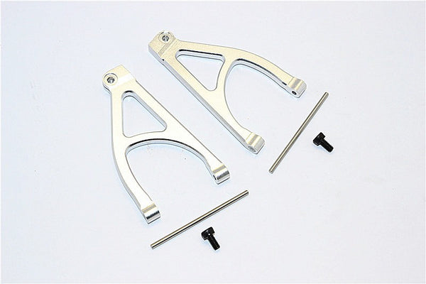 Traxxas 1/16 Mini E-Revo, Mini Summit Aluminum Rear Upper Arm - 1Pr Set Silver