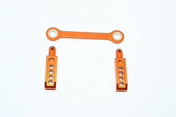 Traxxas 1/16 Mini E-Revo, Mini Slash Aluminum Rear Body Post With Mount - 3Pcs Orange