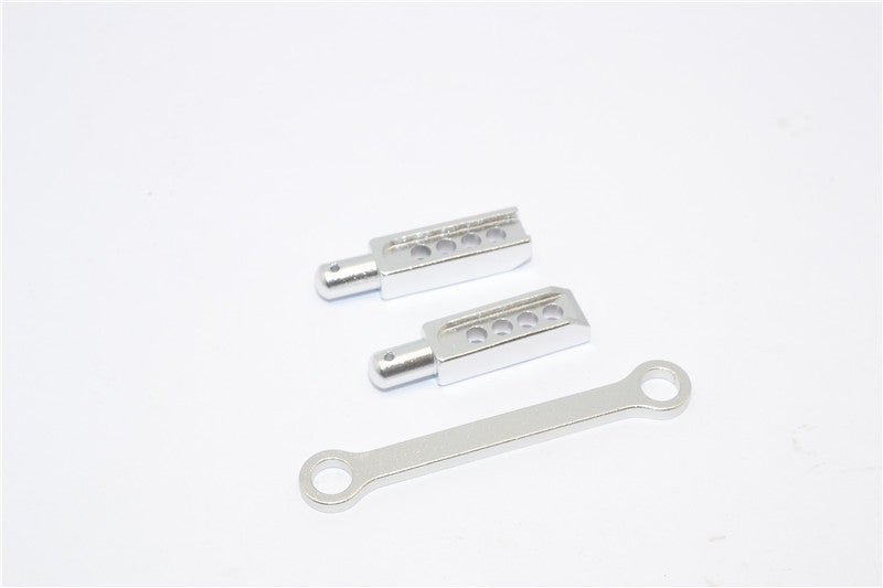 Traxxas 1/16 Mini E-Revo, Mini Slash Aluminum Rear Body Post With Mount - 3Pcs Silver