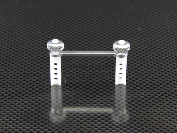 Traxxas 1/16 Mini E-Revo Aluminum Rear Modified Body Post Mount With Delrin Body Posts - 1Set Silver