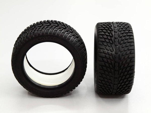 Traxxas 1/16 Mini E-Revo, Mini Summit Front/Rear Rubber Radial Tire With Insert (40G) (Onroad Arrow Pattern) - 1Pr GPM Optional