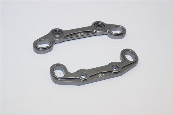 Axial EXO Aluminum Rear Toe Block - 2Pcs Gray Silver