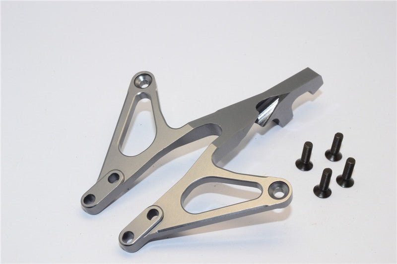 Axial EXO Aluminum Front Chassis Brace - 1Pc Gray Silver