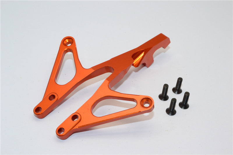 Axial EXO Aluminum Front Chassis Brace - 1Pc Orange