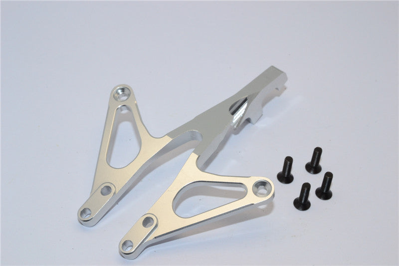 Axial EXO Aluminum Front Chassis Brace - 1Pc Silver