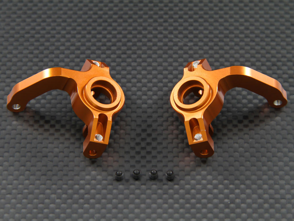 Axial EXO Aluminum Front Knuckle Arm - 1Pr Set Orange