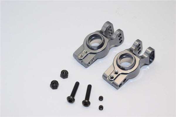 Axial EXO Aluminum Rear Knuckle Arm - 1Pr Set Gray Silver