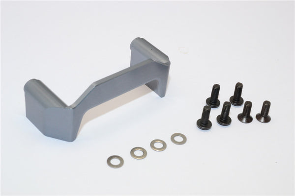 Axial EXO Aluminum Chassis Component Mounts - 1Pc Set Gray Silver