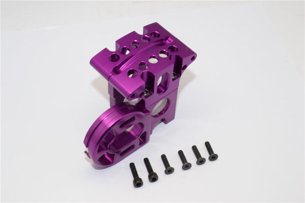 Axial EXO Aluminum Center Gear Box Mount - 1 Set Purple