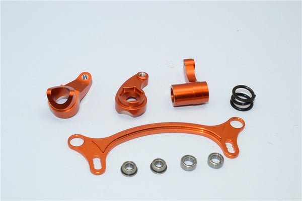 Axial EXO Aluminum Steering Assembly - 4Pcs Set Orange