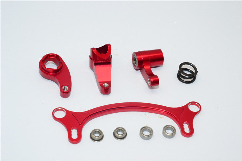 Axial EXO Aluminum Steering Assembly - 4Pcs Set Red