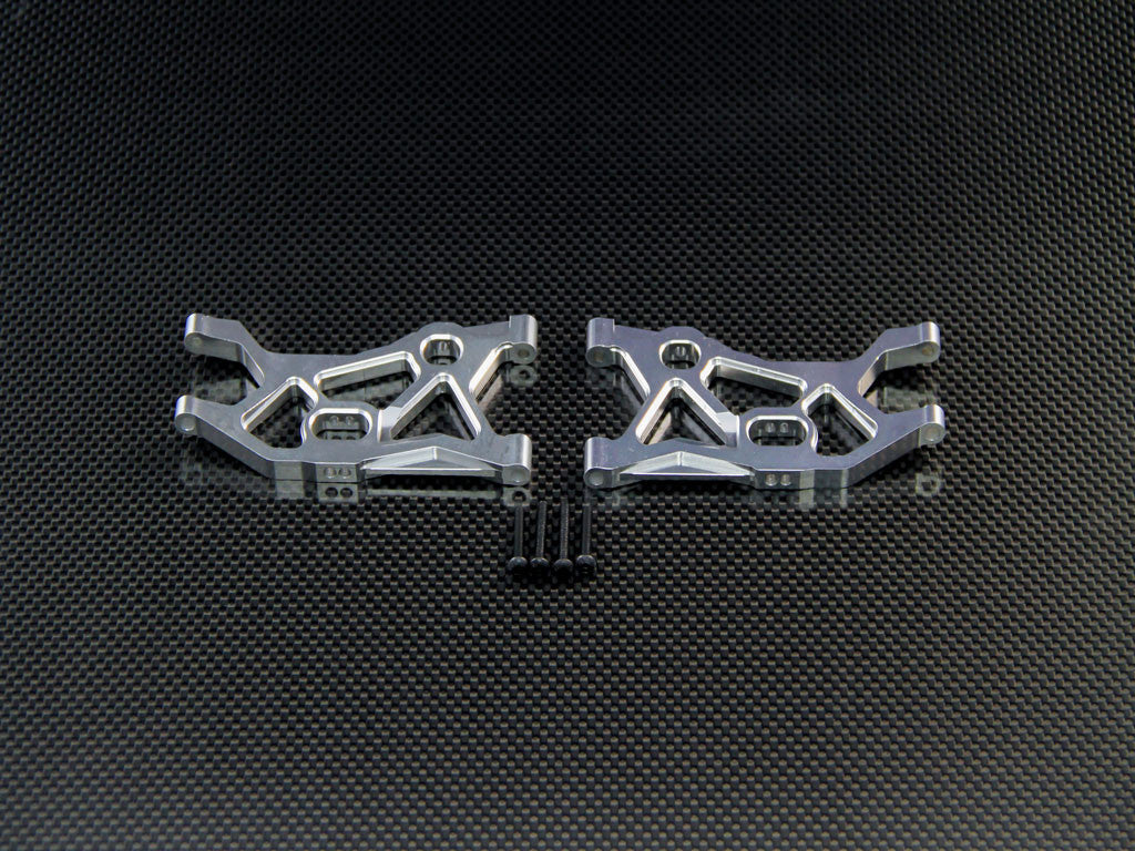 Axial EXO & Axial YETI Aluminum Front Lower Arm - 1Pr Set Sandy Sliver