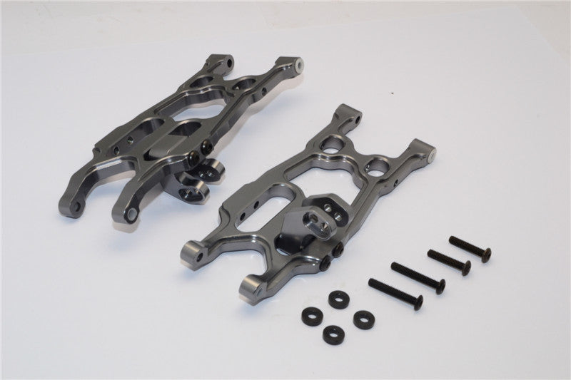 Axial EXO Aluminum Rear Lower Arm - 1Pr Set Gray Silver
