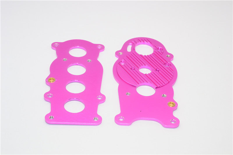 Tamiya Ford F350 High-Lift Aluminum Gear Box Plate - 2Pcs Pink