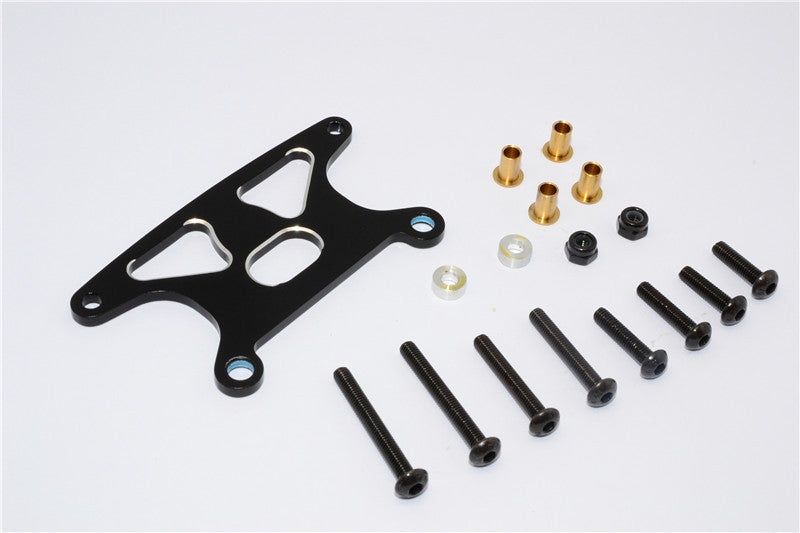 Tamiya GF01 Aluminum Rear Shock Tower - 1Pc Set Black