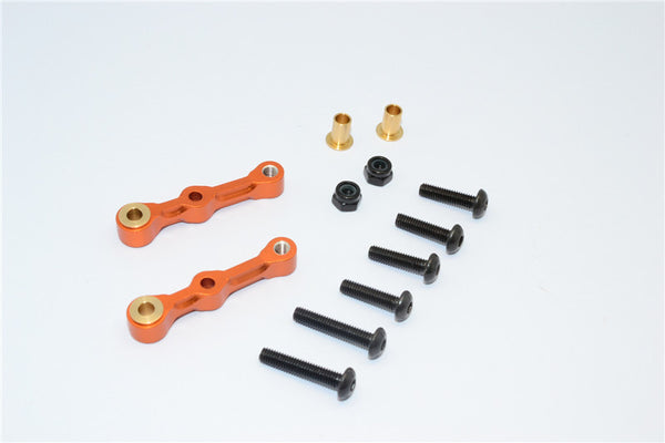 Tamiya GF01 & TL01 Aluminum Rear Camber - 1Pr Set Orange