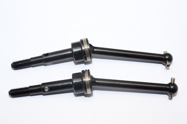 Tamiya GF01 & TL01 Steel #45 Front/Rear CVD Shaft (38mm) - 1Pr Set Black