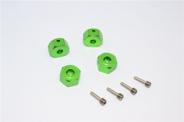 Gmade Crawler R1 Rock Buggy & GS01 Sawback Aluminum Hex Adapter(12mmx7mm) - 4Pcs Set Green