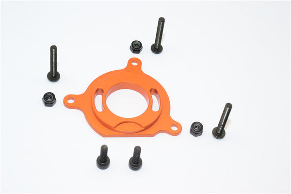 Gmade Crawler R1 Rock Buggy & GS01 Sawback Aluminum Motor Plate - 1Pc Set Orange