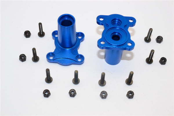 Gmade Crawler R1 Rock Buggy Aluminum Straight Axle Adapter - 2Pcs Set Blue
