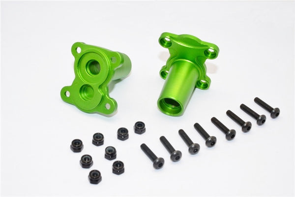 Gmade Crawler R1 Rock Buggy Aluminum Straight Axle Adapter - 2Pcs Set Green