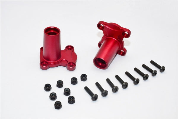 Gmade Crawler R1 Rock Buggy Aluminum Straight Axle Adapter - 2Pcs Set Red