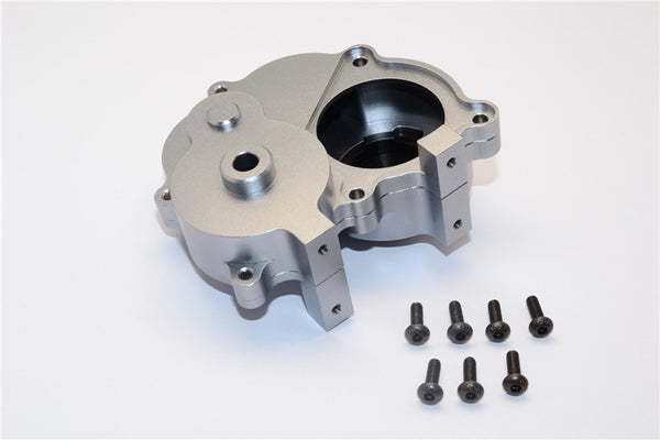 Gmade Crawler R1 Rock Buggy & GS01 Sawback Aluminum Transmission Housing - 1 Set Gray Silver
