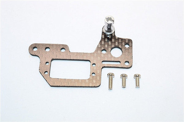 Kyosho Mini Inferno Graphite Servo Mount Cover With Screws - 1Pc Set Silver