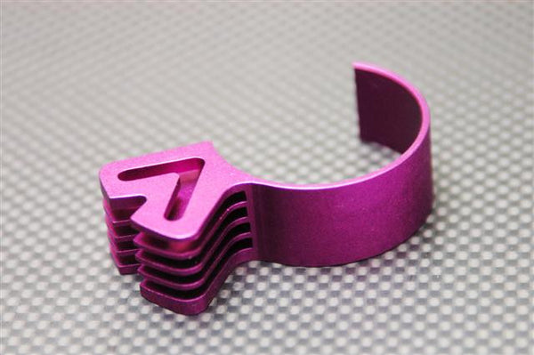 Aluminum 5Fins Motor Heat Sink - 1Pc Purple
