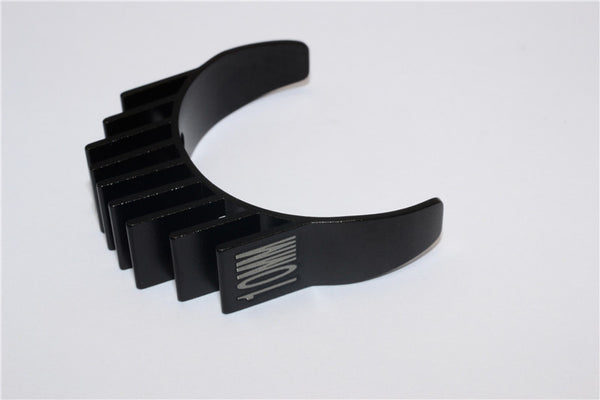 Aluminum Motor Heat Sink Mount 10mm For 1/10 05, 540, 360 Motor - 1Pc Black