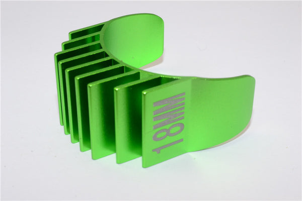 Aluminum Motor Heat Sink Mount 18mm For 1/10 05, 540, 360 Motor - 1Pc Green