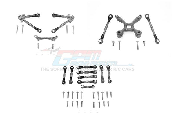 Traxxas Ford GT 4-Tec 2.0 (83056-4) Aluminum Front & Rear Tie Rods With Stabilizer For C Hub + Whole Car Tie Rods - 51Pc Set Gray Silver