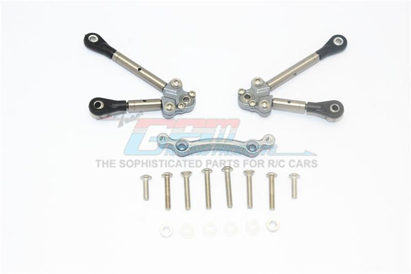 Traxxas Ford GT 4-Tec 2.0 (83056-4) Titanium Front Tie Rods With Stabilizer For C Hub - 15Pc Set Gray Silver