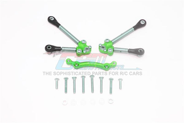 Traxxas Ford GT 4-Tec 2.0 (83056-4) Titanium Front Tie Rods With Stabilizer For C Hub - 15Pc Set Green