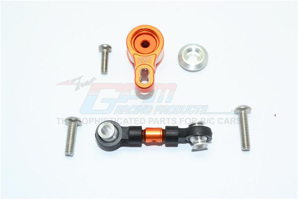 Traxxas Ford GT 4-Tec 2.0 (83056-4) Aluminum Servo Saver With Aluminum Steering Link - 6Pc Set Orange