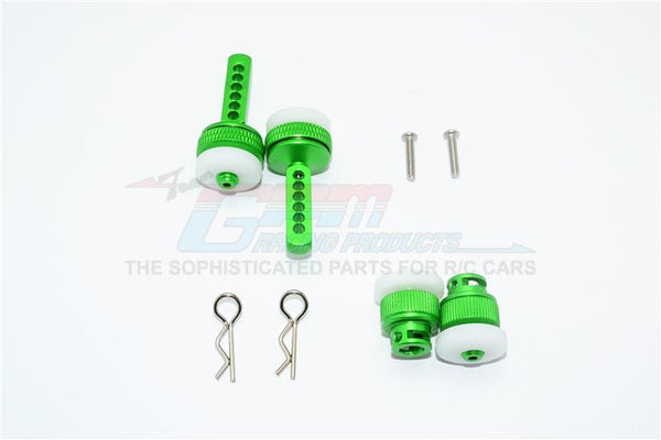 Traxxas Ford GT 4-Tec 2.0 (83056-4) Aluminum Front & Rear Magnetic Body Mount - 4Pc Set Green