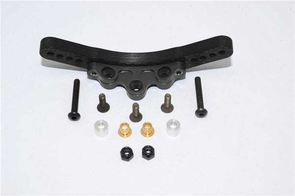 Tamiya TB04 Graphite Front Damper Mount - 1 Set Black